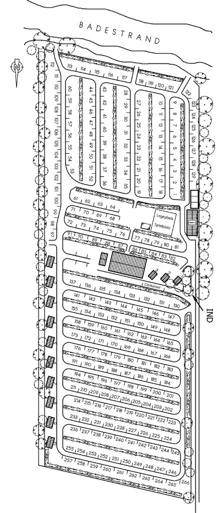 Skovmose camping Platzplan